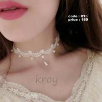 White Choker Necklace