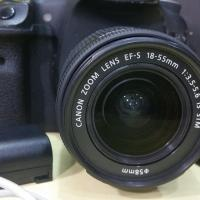 Canon 7D body with 18-55mm STM lens .