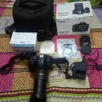 Canon 750D with 18-200mm Af lens & Accessories