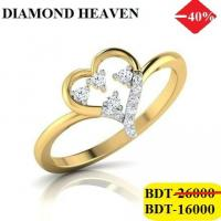 Diamond with Gold Ring