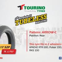 Tubeless Bike Tyre - Pattern: ARROW-C
