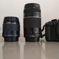 Canon 1200d+75-300mm+18-55mm