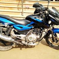 Bajaj Pulsar 150 CC, Blue & Black, 2014 latest model