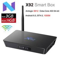 X92 Amlogic S912 Octa Core Smart Mini PC 4K 3D Kodi Media Player 5.8G Wifi Android 7.1 2/3GB RAM 16/32GBROM TV Box